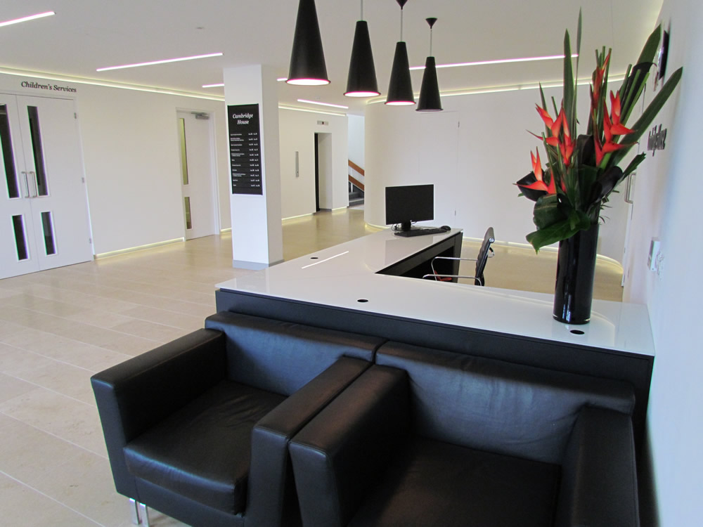 Black Mdf Reception desk