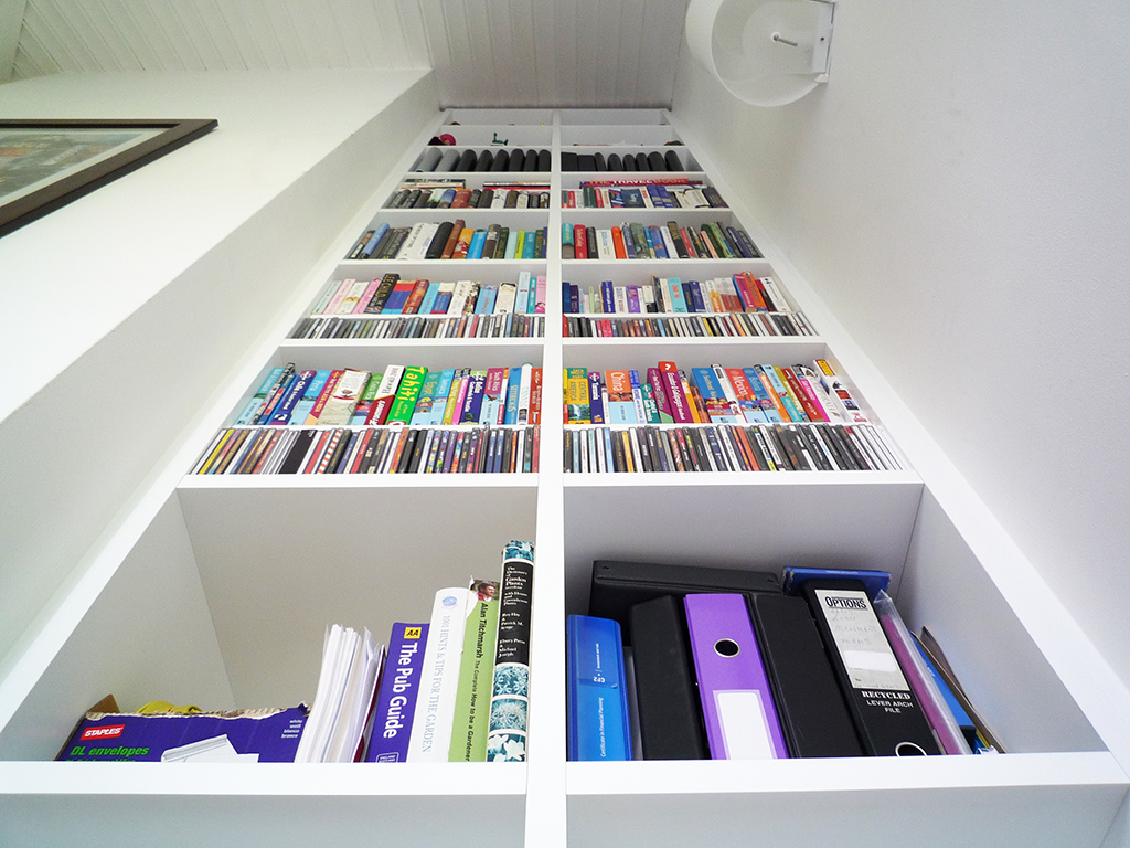 Extra high bookcase