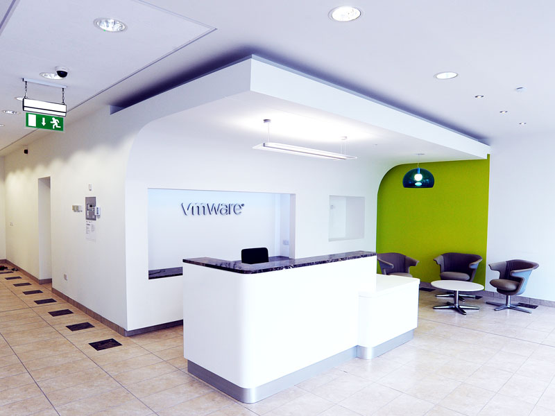 VMware reception desk